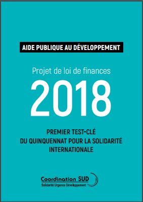 Photo couverture Position de Coordination SUD sur le PLF 2018